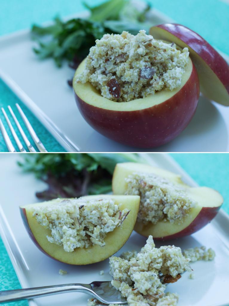 Healthy Quinoa Recipe - Quinoa-Stuffed Apple