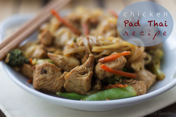 Chicken pad thai recipe easy healthy and gluten free for Healthy chicken pad thai
