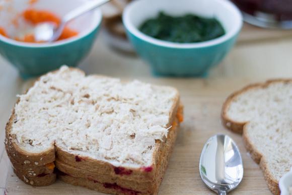 Tuna & Vegetables Sandwich Recipe