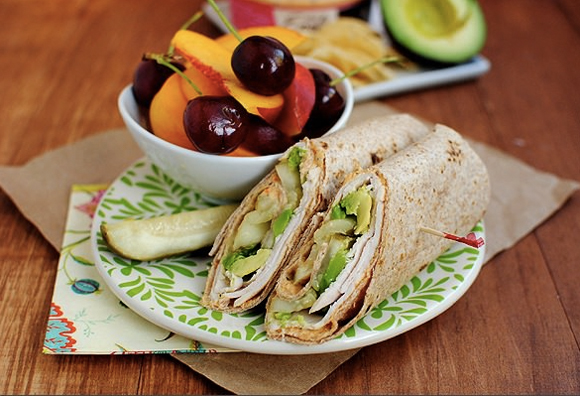 Week's Favorites - Turkey & Avocado Hummus Wrap