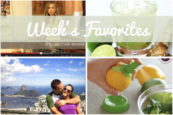 Week's Favorites - Lemon Water