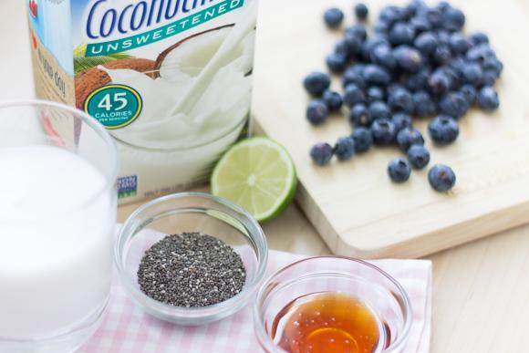 Chia & Blueberries Yogurt Parfait-1