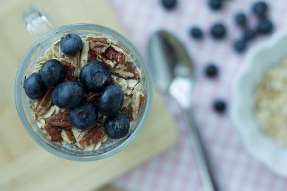 Chia & Blueberries Yogurt Parfait
