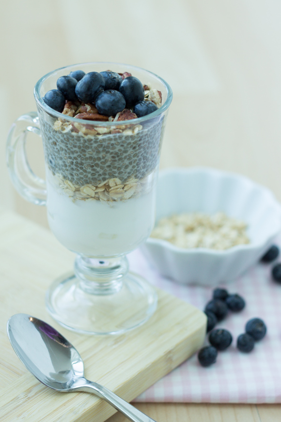 Chia & Blueberries Yogurt Parfait