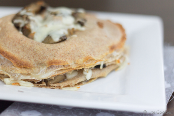 Whole Grain Layered Crepe with Mushroom & Turkey